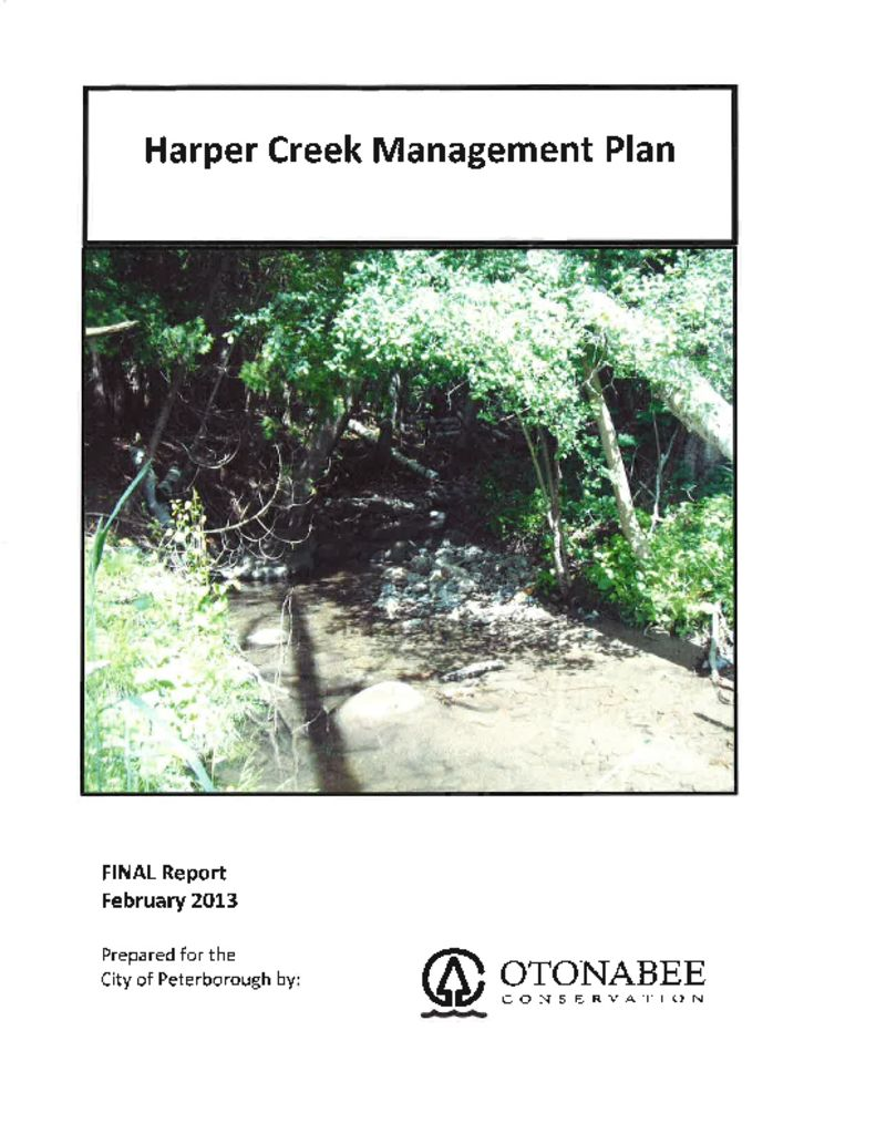 thumbnail of Harper Creek Management Plan