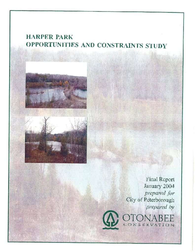 thumbnail of Harper Park Opportunities and Constraints